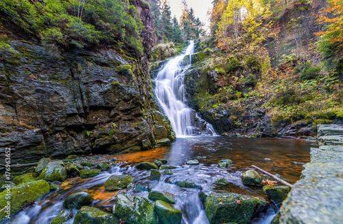 fototapeta na lodówkę Wodospad Kamieńczyka Szklarska Poręba