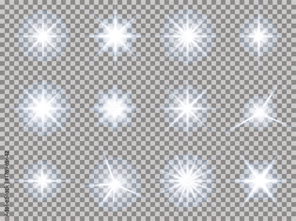 Fototapety, obrazy: stars transparent light set