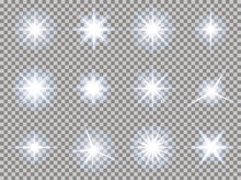 Stars Transparent Light Set