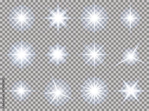 Photo stars transparent light set