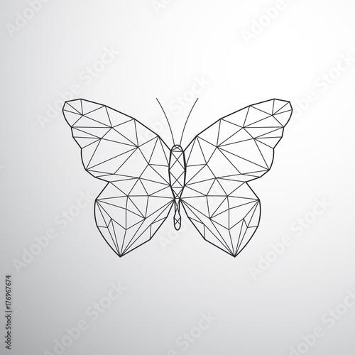 Fotografie, Obraz  Geometric butterfly