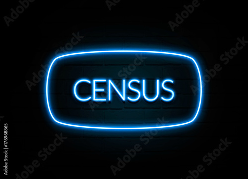 Photo  Census  - colorful Neon Sign on brickwall