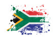 canvas print picture - South Africa flag grunge painted background