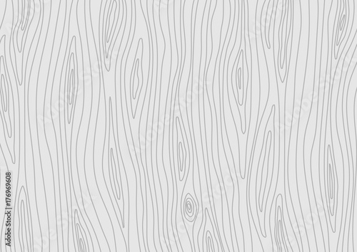 Fotografía  Wooden light grey texture. Vector wood background