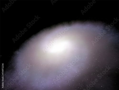 Fototapeta Galaktyka spiralna 3d ilustracji