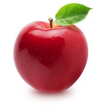 Isolated Apple. Whole Red, Pin...