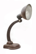 Old Table Lamp Isolated On Whi...