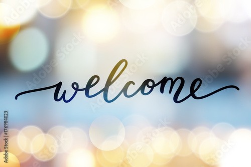 Photo  welcome vector lettering