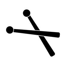 Drumsticks Icon, Illustration,...