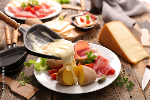 Stampa su Tela raclette cheese melted