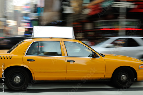 Spoed Foto op Canvas New York TAXI Taxi Top Advertising