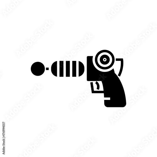 gun plasma - star wars icon, illustration, vector sign on isolated background Wallpaper Mural