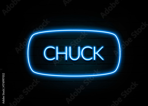 Photo  Chuck  - colorful Neon Sign on brickwall