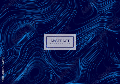 Fotografia  Abstract artistic blue background with swirled gradient lines.