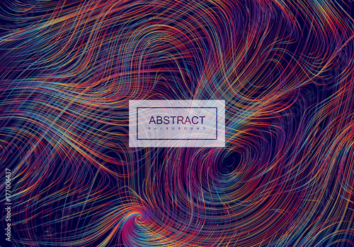 Fotografie, Obraz  Abstract artistic rainbow background with curled lines.