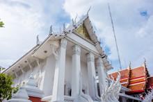 Bangkok Thailand: Wat Nak Prok White Temple (178/, Soi Thoet Thai 46, Khwaeng Pak Khlong Phasi Charoen, Khet Phasi Charoen, Krung Thep Maha Nakhon 10160)