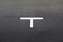 Letter T On Pavement