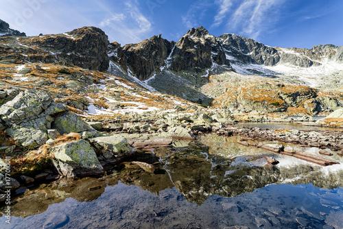 Plakat Alpejski krajobraz - Wysokie Tatry, Słowacja