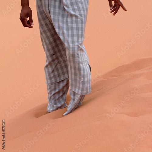 Tela Ubari Desert, Libya - May 04, 2002 : Tuareg legs
