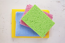 Colourful Sponges And Cleaning...