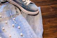 Women's Clothing And Accessories. Jeans, Purse And Shoes.