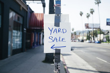 Yard Sale Homemade Sign