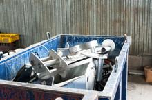 Mitallic Container Full Of Ind...