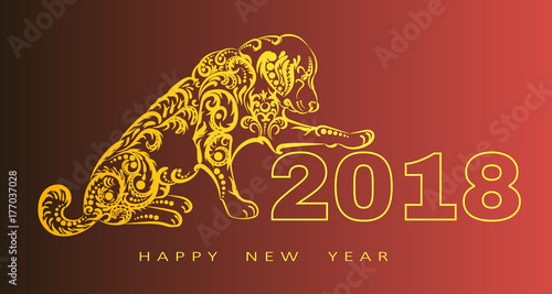 2018 happy new year greeting cardar of the dog chinese new year 2018 happy new year greeting cardar of the dog chinese new year m4hsunfo