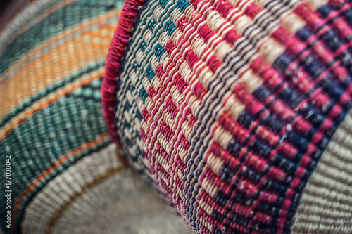 Native American Baskets Canvas
