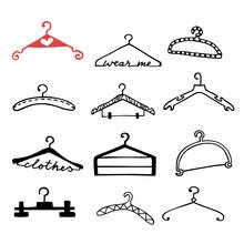 Doodle Clothes Hangers Set