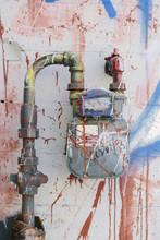 Graffiti On Alley Wall