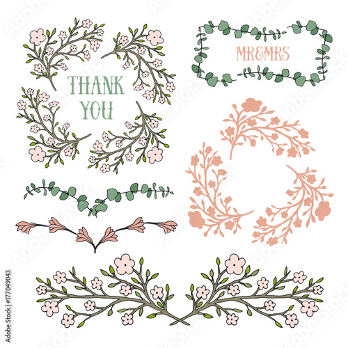 Floral Design Elements Vector Frames And Borders Can Use For