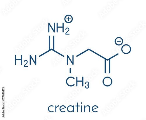 Creatine molecule Obraz na płótnie