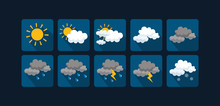 Weather Vector Icons  Flat Des...