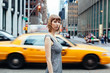 Blond woman in New York City