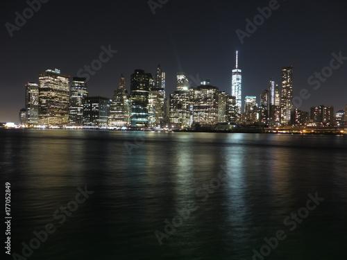 Fototapety, obrazy: New York Skyline by night
