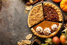 Fall Traditional Pies Pumpkin,...