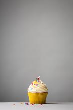 Cupcake On Grey