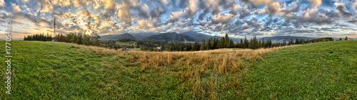 Obraz na płótnie Tatry - Panorama z widokiem na Giewont - Zakopane