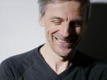 Portrait Middle-aged Man Laugh...