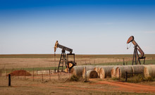 Oil Pumps ( Pumpjacks) And Hay...