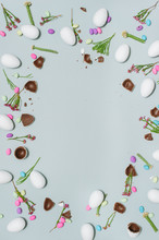 Flowers And Chocolate Eggs
