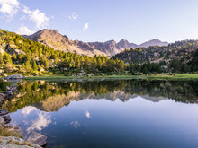 Estany Primer Lake In Andorra,...