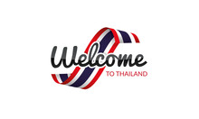 Welcome To Thailand Flag Sign Logo Icon