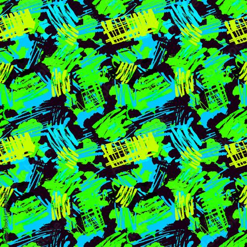 Printed kitchen splashbacks Woman face Urban geometric arrows,spots and blots seamless pattern