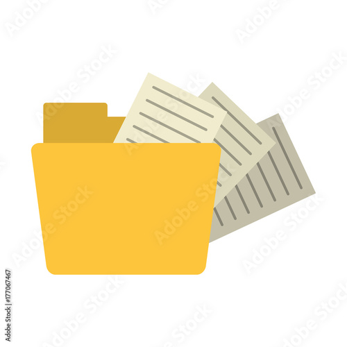 Fototapeta file folder with documents coming out icon image vector illustration design