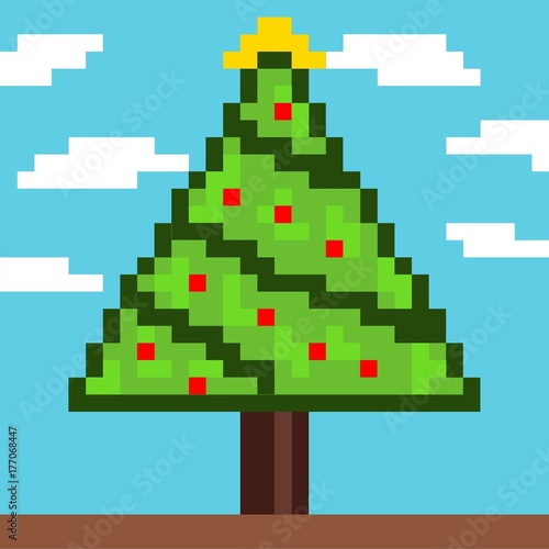 Christmas Tree Pixel Art Buy This Stock Photo And Explore Similar Images At Adobe Stock Adobe Stock