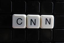 Cnn Text Word Crossword. Alphabet Letter Blocks Game Texture Background.