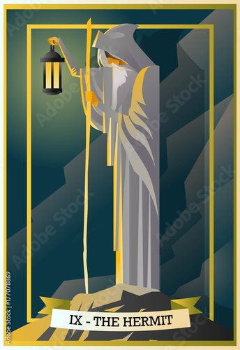 hermit tarot card Canvas Print