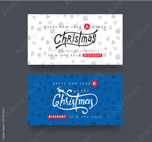 christmas and new year voucher discount templatevector illustrationgreeting cards - Discount Greeting Cards